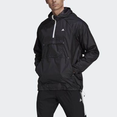 Men Training Black Designed 2 Move Activated Tech AEROREADY Windbreaker