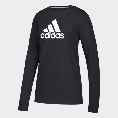 Women's Sport Inspired Black W LS GTP T
