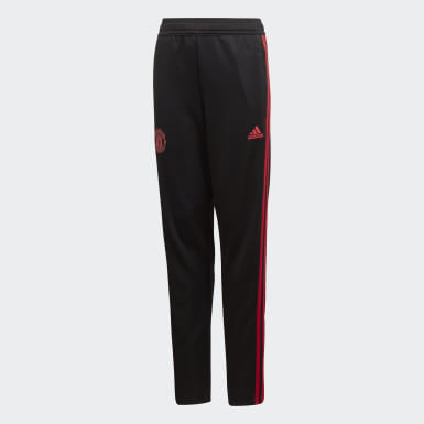 Kids Football Black Manchester United Training Tracksuit Bottoms
