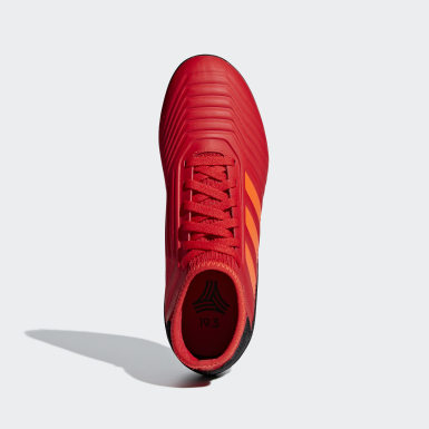 Kids Football Red Predator Tango 19.3 Turf Boots