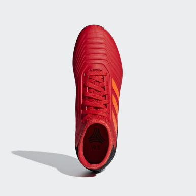Kinderen Voetbal Rood Predator Tango 19.3 Turf Voetbalschoenen