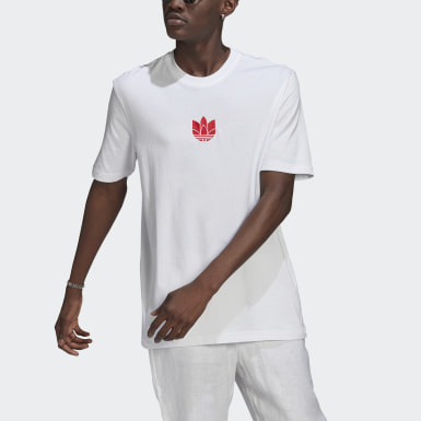 Men Originals White LOUNGEWEAR Adicolor 3D Trefoil Tee