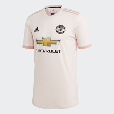 Maillot Manchester United Extérieur Authentique Rose Hommes Football