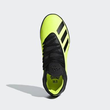 Chaussure X Tango 18.3 Turf Jaune Enfants Football