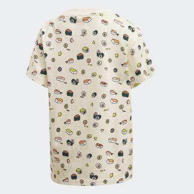 Kids 4-8 Years Originals Beige Sushi Allover Print T-Shirt