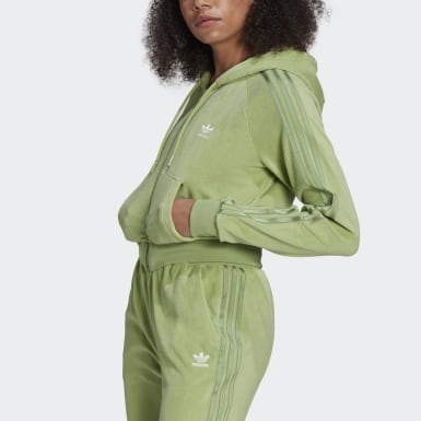 Hoodie LOUNGEWEAR adidas Full Zip ​ Verde Donna Originals