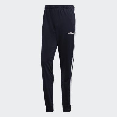 Pantalón Essentials Tapered Tricot 3 Tiras Azul Hombre Training