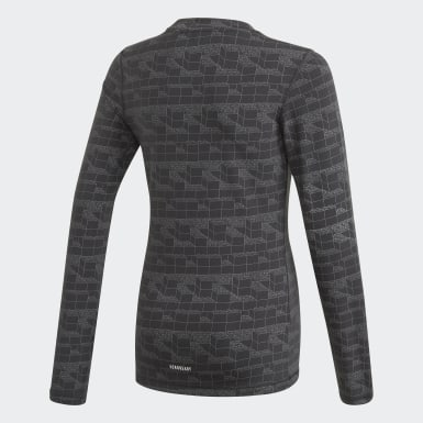 Børn Træning Sort adidas x Classic LEGO® Bricks Long Sleeve Fitted T-shirt