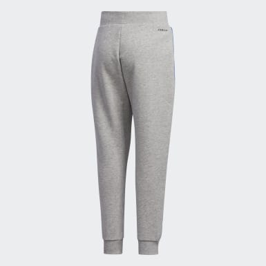 Pantalón French Terry Knit Gris Niño Athletics