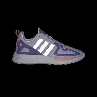 Sapatos ZX 2K Flux Roxo Raparigas Originals