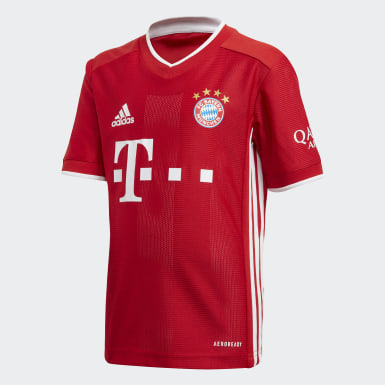 Mini kit FC Bayern Domicile Rouge Enfants Football