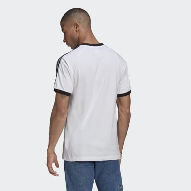 Men Originals White Adicolor Classics 3-Stripes Tee