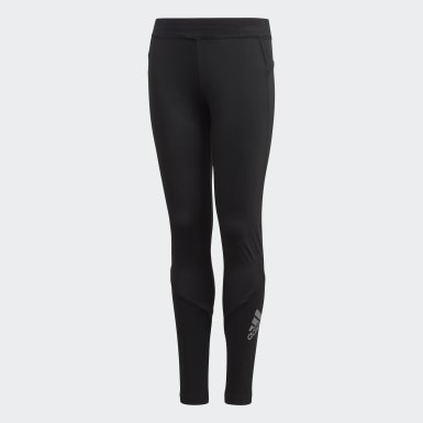 Youth 8-16 Years Yoga Black Alphaskin Long Tights