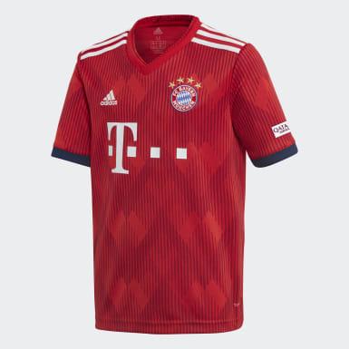 Camiseta de Local FC Bayern Réplica Rojo Niño Fútbol
