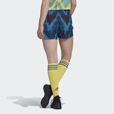 Women Football Yellow Arsenal Human Race Shorts