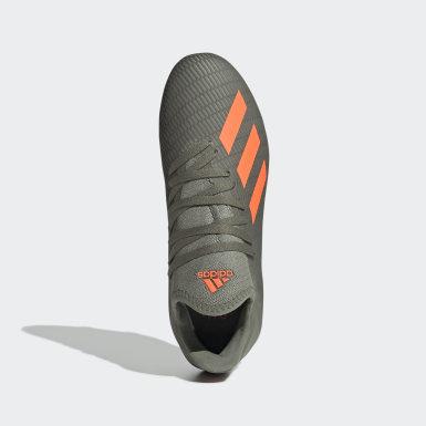 Børn Fodbold Grøn X 19.3 Firm Ground støvler