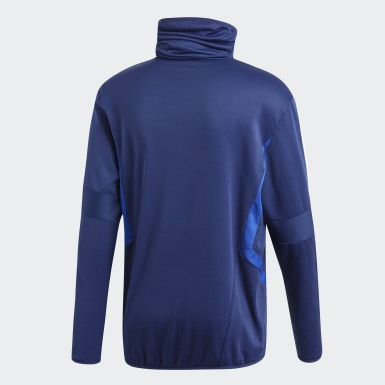 Heren Training Blauw Tiro 19 Warm Sweatshirt