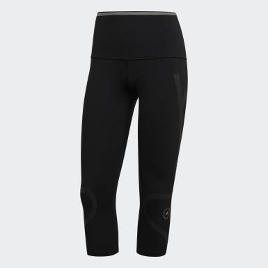 Women adidas by Stella McCartney Black TRUEPACE 3/4 Tights