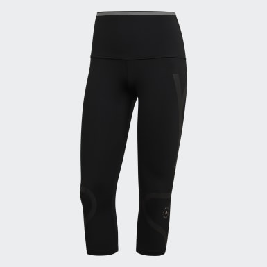 Dames adidas by Stella McCartney Zwart TRUEPACE 3/4 Legging