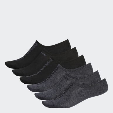 Men's Essentials Black Superlite Linear Super-No-Show Socks 6 Pairs