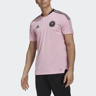 Men Football Pink Inter Miami CF Training Jersey
