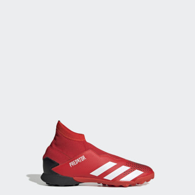 Kids 4-8 Years Football Red Predator 20.3 Turf Boots