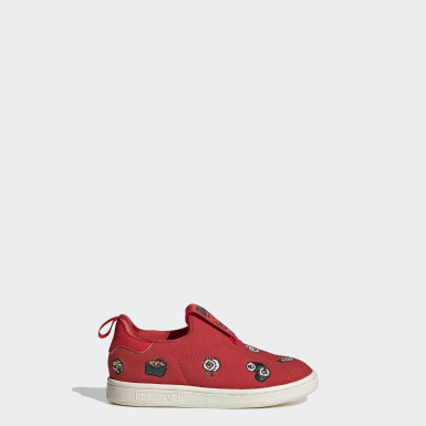 Kids Originals Red Stan Smith 360 Shoes