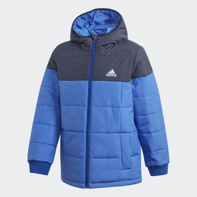 Kids Training Blue Midweight Padded Jacket