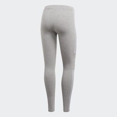 Women's Originals Grey Trefoil Tights
