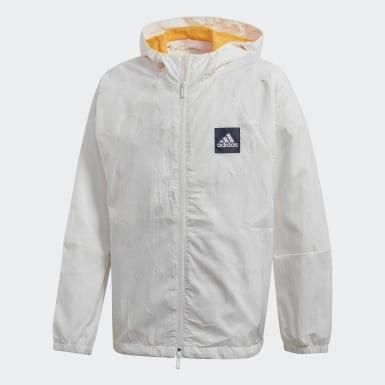 เด็กผู้ชาย ไลฟ์สไตล์ สีขาว เสื้อแจ็คเก็ต adidas W.N.D. Primeblue