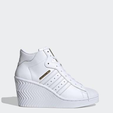 ผู้หญิง Originals สีขาว รองเท้า Superstar Ellure