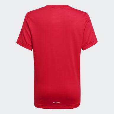 Camiseta AEROREADY Rojo Niño Training