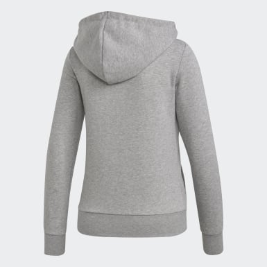 Women Training Grey Essentials Solid Hoodie