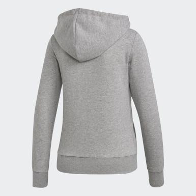 Veste à capuche Essentials Solid Gris Femmes Training