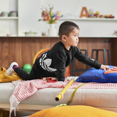 Kinderen Originals zwart Big Trefoil Set