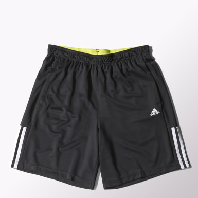 Men Yoga Black Base 3-Stripes Shorts