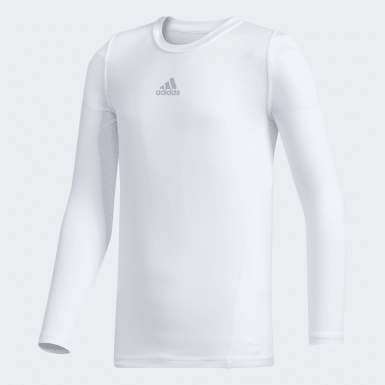 Youth Training White Alphaskin Baselayer Top
