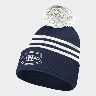 Bonnet Canadiens3-Stripes Cuffed Pompom multicolore Hommes Sport Inspired