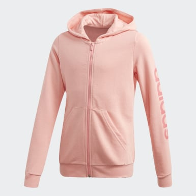 Girls Training Pink Linear Hoodie