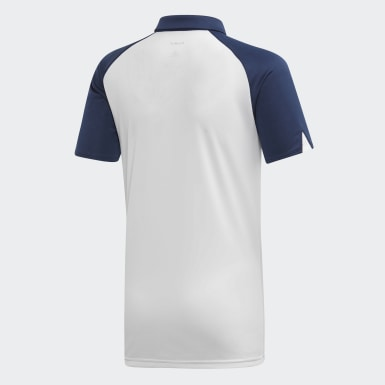 Playera Polo Club Azul Niño Tennis