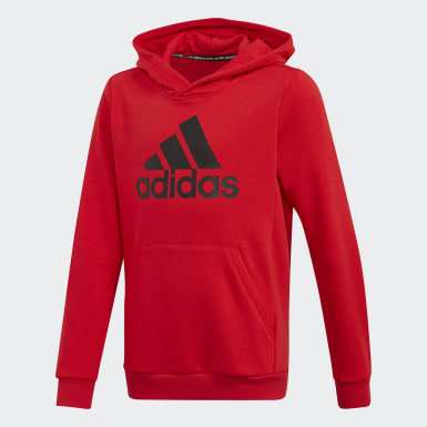 Jongens Training rood Must Haves Badge of Sport Fleece Pullover