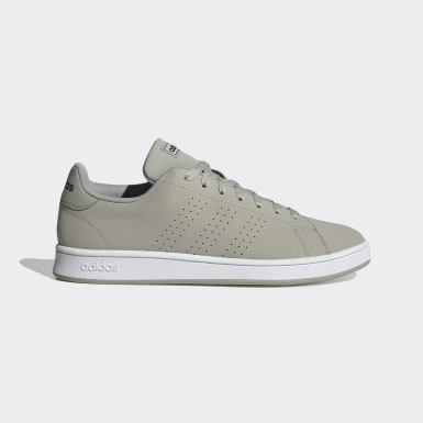 Men Tennis Grey Advantage Base Shoes