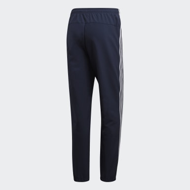 Men Training Blue Essentials 3-Stripes Tracksuit Bottoms