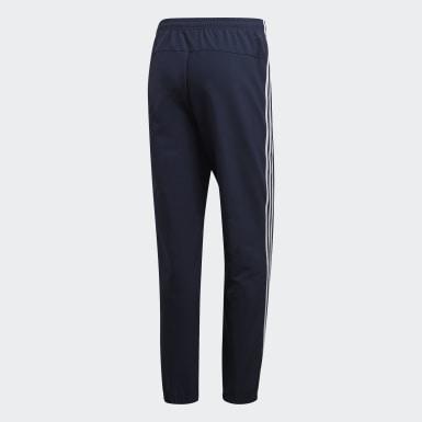 Mænd Træning Blå Essentials 3-Stripes Wind bukser
