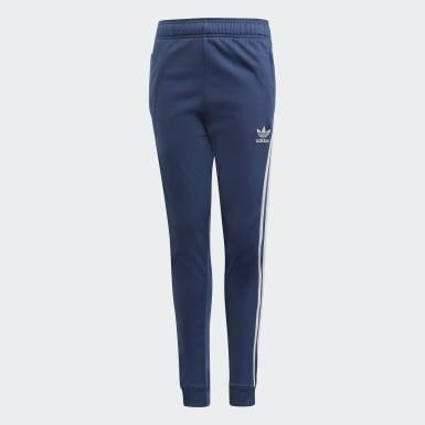 เด็ก Originals สีน้ำเงิน กางเกงแทรคขายาว SST