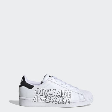 Youth Originals White Superstar Girls Are Awesome Shoes