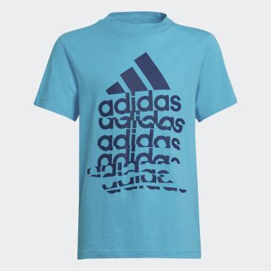 Kluci Athletics tyrkysová Tričko Badge of Sport