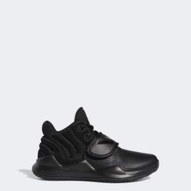 Youth Basketball Black Deep Threat Wide Shoes