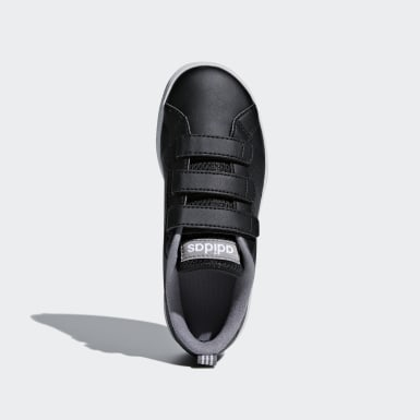 Children Sport Inspired Black VS Advantage Clean Shoes