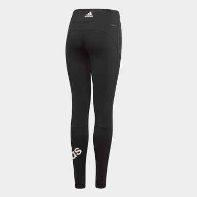 Youth Training Black Believe This Branded Tights